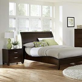 Homelegance Starling 2 Piece Platform Bedroom Set in Dark Cherry