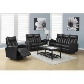 Reclining - Sofa Bonded Leather / Match Black
