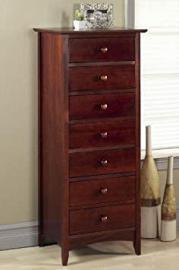 """Hawthorne Seven drawer Chest, 48.5""""Hx20""""W, DARK CHERRY"""