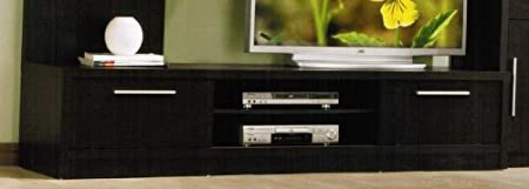 TV Stand with Metal Handles in Espresso Finish by Acme