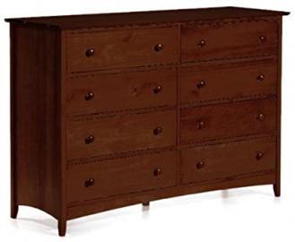 """Hawthorne 8 drawer Dresser, 40.5""""Hx59""""W, DARK CHERRY"""