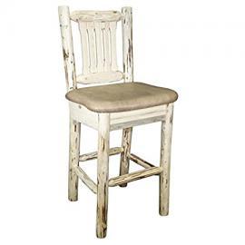 Montana Barstool with Upholstered Buckskin Pattern Seat