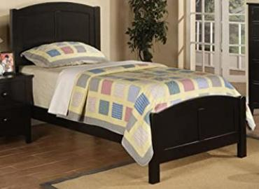 Beautiful Twin Size Bed in Black Finish PDS f90208