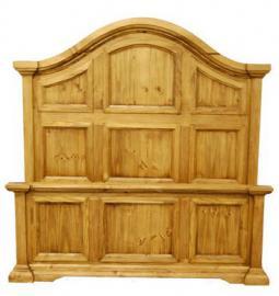 Queen Size Honey Crown Bed