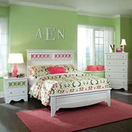 Standard Furniture My Room 3 Piece Panel Bedroom Set in White