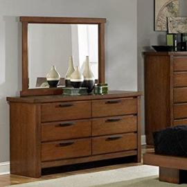 Homelegance Kobe 6 Drawer Dresser In Medium Oak