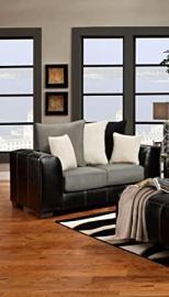 Chelsea Home Furniture Landon Loveseat, Idol Steel/Laredo Black