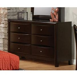 Coaster Phoenix 6 Drawer Dresser in Cappuccino Finish