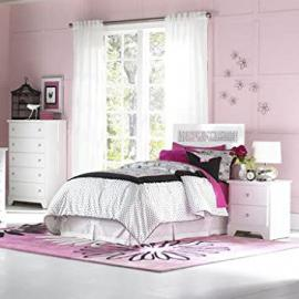 Standard Furniture Marilyn Youth 3 Piece Kids' Bedroom Set in Glossy White