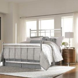 Homelegance Zelda 2 Piece Metal Bedroom Set in Chrome