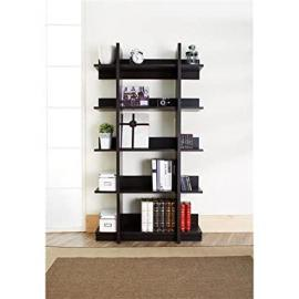Mwave YNJ-1412-5 Capizzi Modern Display Shelf, Material: MDF, Wood veneer, Finish: Espresso