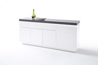 ATLANTA typ 74 - white black chest of drawers