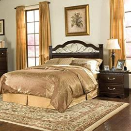 Standard Furniture Sorrento 2 Piece Headboard Bedroom Set in Brown