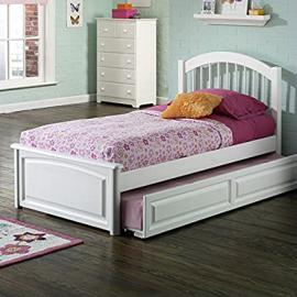 Atlantic Furniture Windsor Platform Bed with Trundle in White Finish