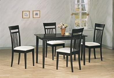 5 pc Solid Wood Cappuccino Dining Set Table & 4 Chairs