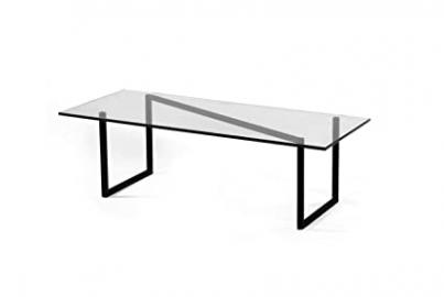 SNAKE Rectangular Contemporary Glass Coffee Table By FAKTURA NYC