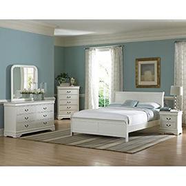 Marianne Sleigh Bedroom Set (White)