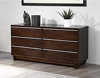 Odessa 6 Drawer Dresser, Made with Rubberwood and Wood Veneers