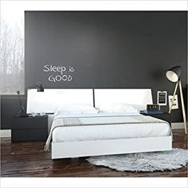 Nexera Melrose 4 Piece Queen Bedroom Set in White and Black