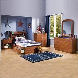 Kids Pine Wood Captain's Storage Bed 5 Piece Bedroom Set