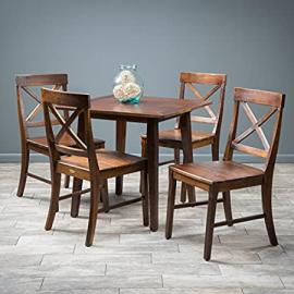 Potter 5pc Mahogany Stained Wood Dining Set