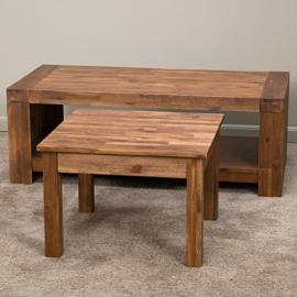 Lorcan Java Brown Coffee Table and Side Table (Set of 2)