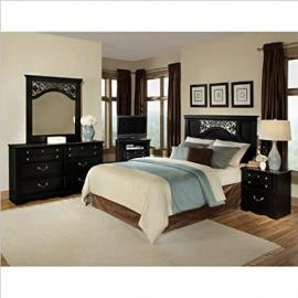 Standard Furniture Madera 3 Piece Bedroom Set in Ebony Black