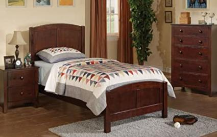 Inland Empire Furniture Brown Solid Wood Twin Bed with Bed Set