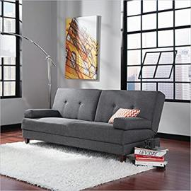 Sauder Premier Carver Convertible Sofa in Grey