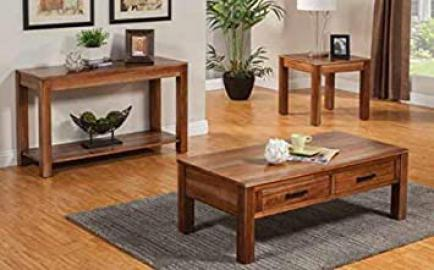 Coffee Table in Natural Brown Finish by Coaster Furniture