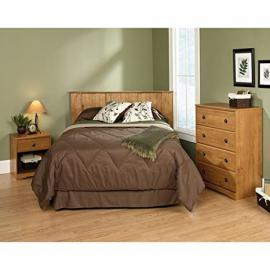 3 Pc Bedroom Furniture Set, Headboard, Chest with 4 drawers and Nightstand Wood