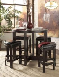 Brussel Counter Height Set by Home Elegance in Cherry