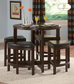 Homelegance Brussel II 5 Piece Counter Height Dining Room Set