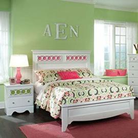 Standard Furniture My Room 2 Piece Panel Bedroom Set in White