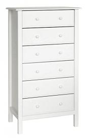 Davinci Jayden 6 Drawer Tall Dresser, White