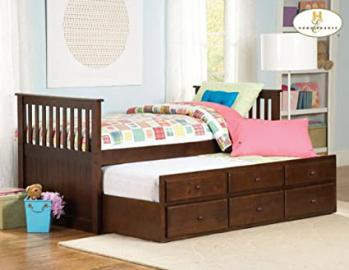 Zachary Twin Bed and Trundle in Espresso