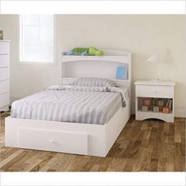 Nexera Vichy 3 Piece Twin Bedroom Set in White and Melamine