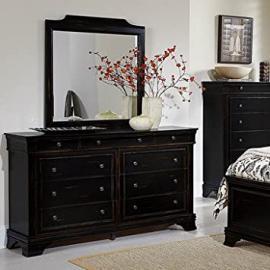 Homelegance Derby Run 9 Drawer Dresser w/ Mirror in Antique Black