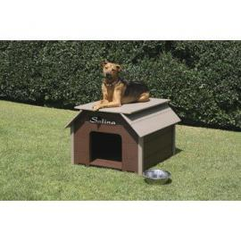 "Luxury Dog House Color: Driftwood, Size: Small (25"" H x 38"" W x 34"" L)"