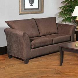 Loveseat Fabric: Sienna Chocolate