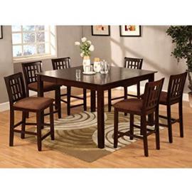 Eleanor 5-Piece Espresso Finish Counter Height Dining Set