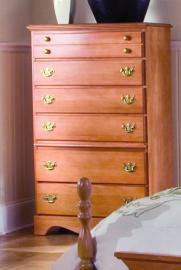 Carolina Furniture 154602 Common Sense Six Drawer Chest Dresser In Salem Maple