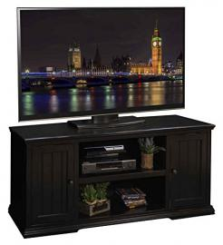 61.75 in. TV Cabinet in Rustic Black Finish