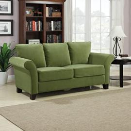 "Milan Velvet Sofa (Pear Green) (36""H x 74""W x 33""D)"