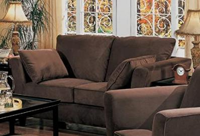 Loveseat Sofa Coco Brown Microfiber