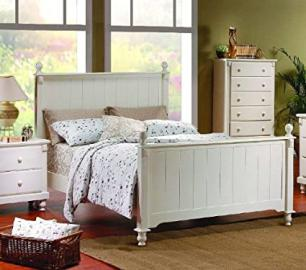 Home Elegance 875KW-1EK* EASTERN KING BED- WHITE FINISH