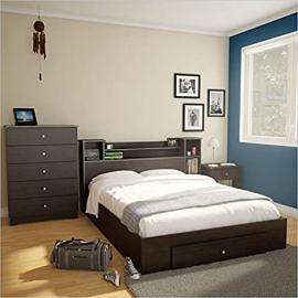 Nexera Pocono 4 Piece Full Bedroom Set in Espresso