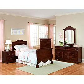 Jaqueline Sleigh Bedroom Set Twin