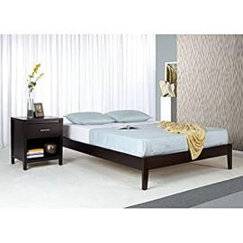 Tapered Leg Full-size Platform Bed Is a Simple Platform Bed Adds a Contemporary Touch to Your Bedroom This Full-sized Platform Bed Offers Lovely, Contemporary, Minimalist Design. Constructed of Tropical Mahogany Wood, This Sleek Bed Boasts a Tapered Leg D
