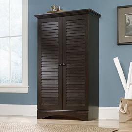 Sauder Harbor View Storage Cabinet in Antique Brown
